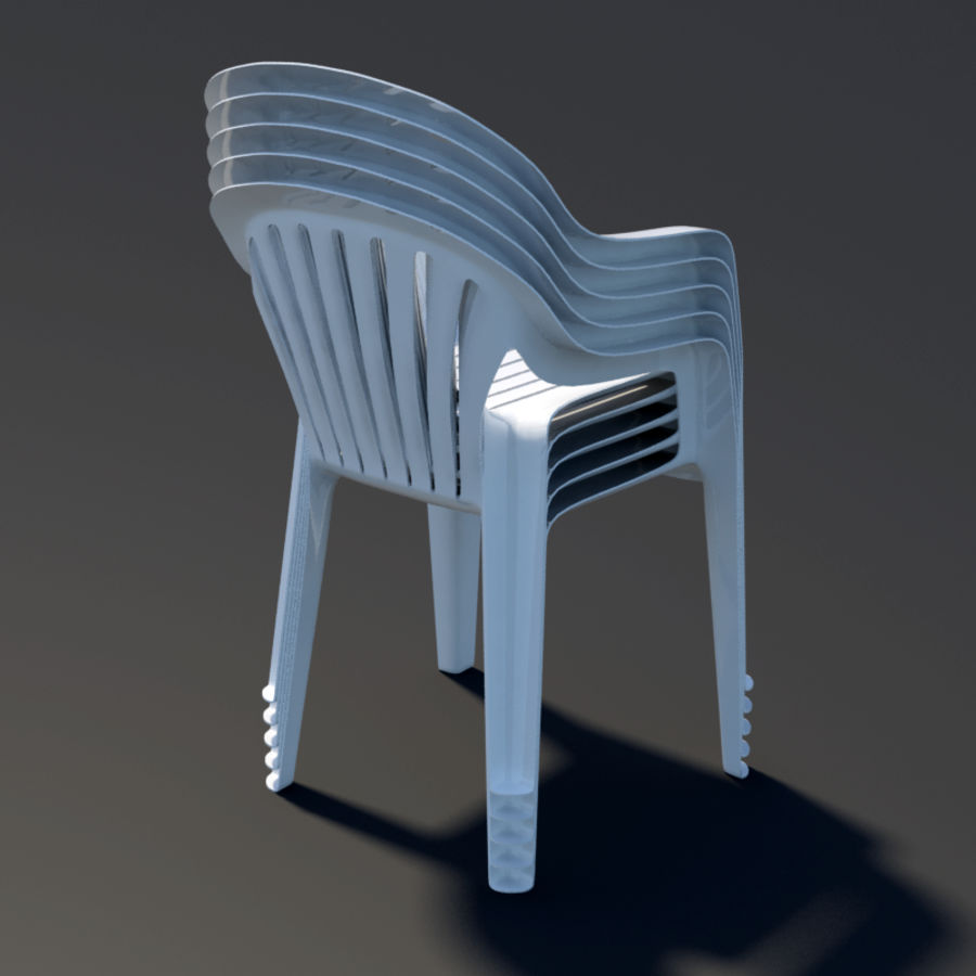 Plastic chair royalty-free 3d model - Preview no. 4