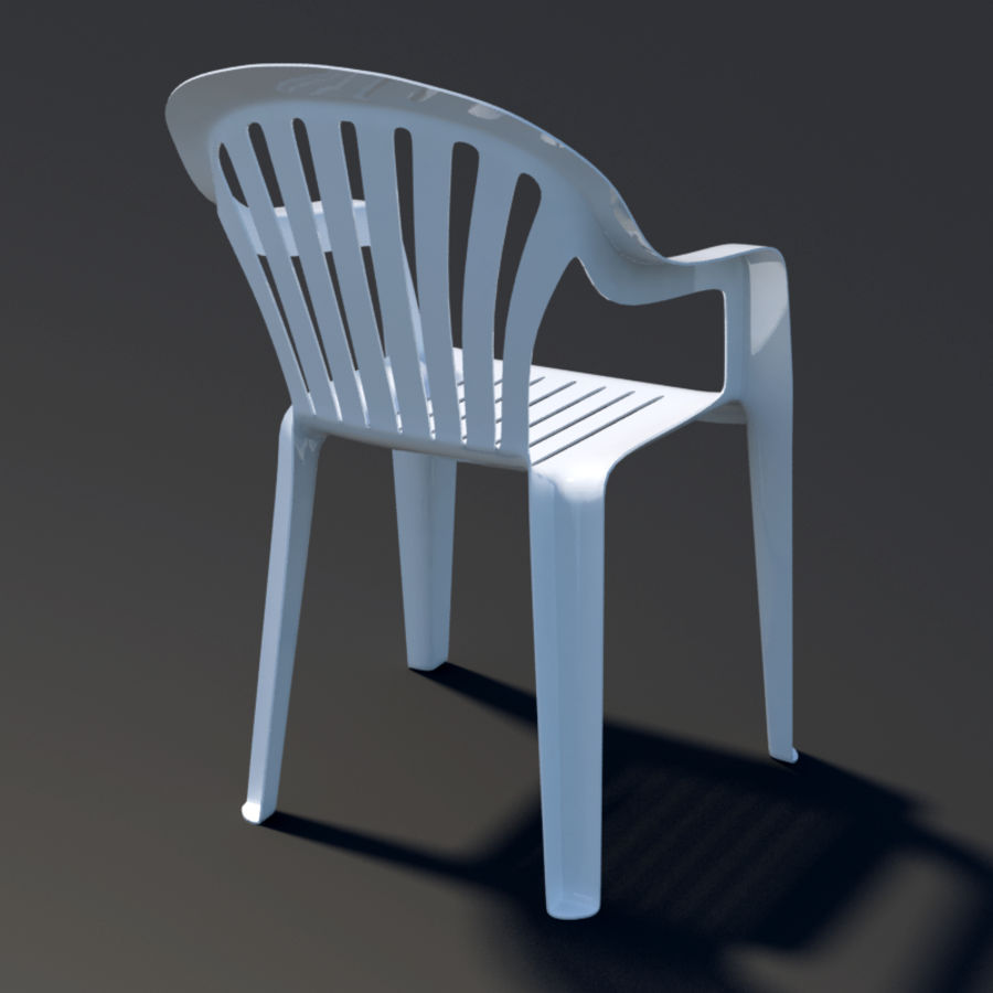 Plastic chair royalty-free 3d model - Preview no. 3