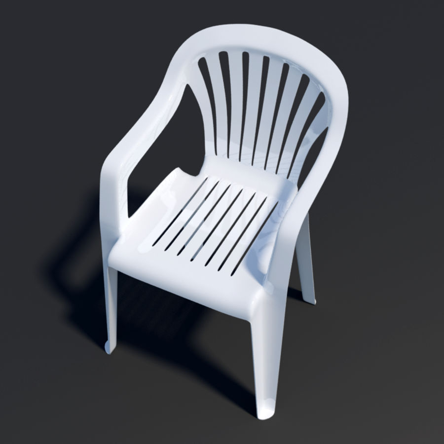 Plastic chair royalty-free 3d model - Preview no. 6