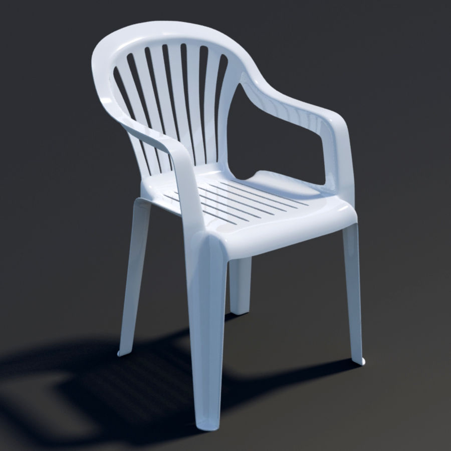 Plastic chair royalty-free 3d model - Preview no. 1