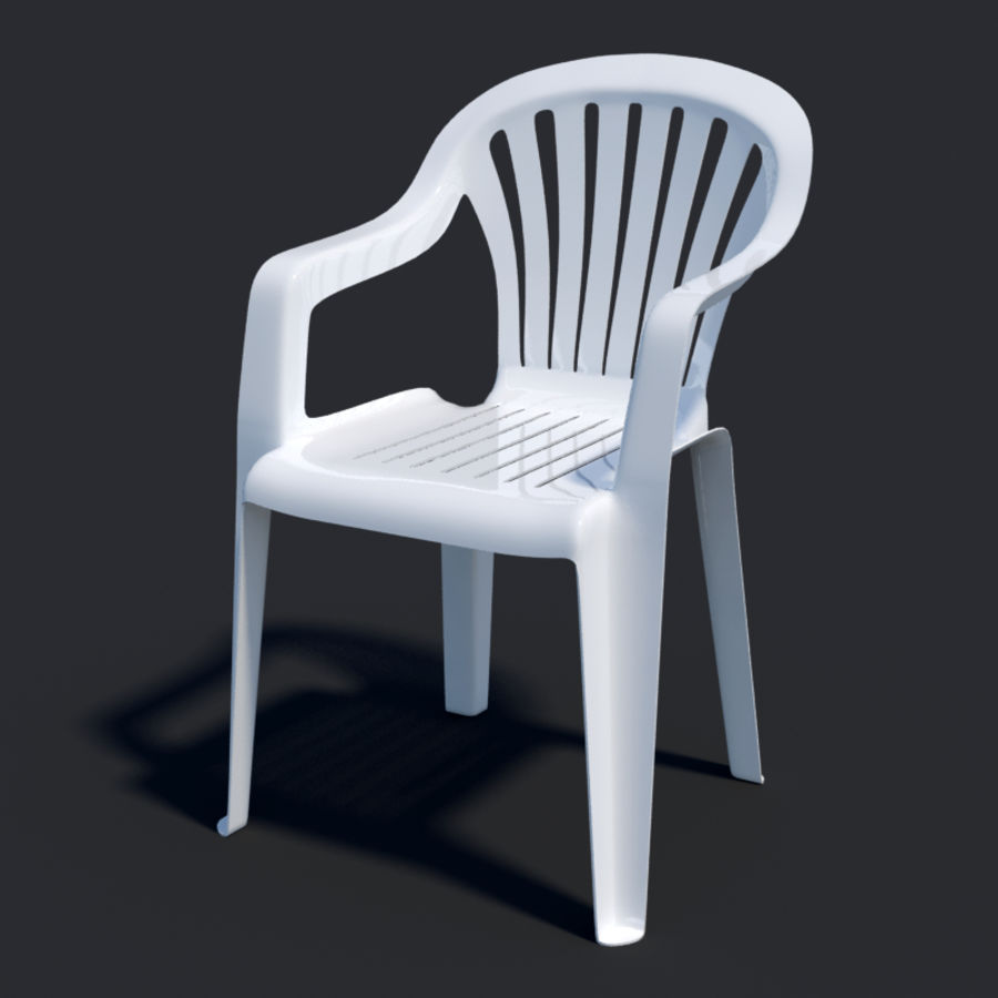 Plastic chair royalty-free 3d model - Preview no. 5