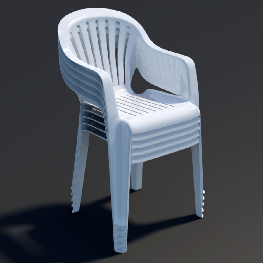 Plastic chair royalty-free 3d model - Preview no. 2