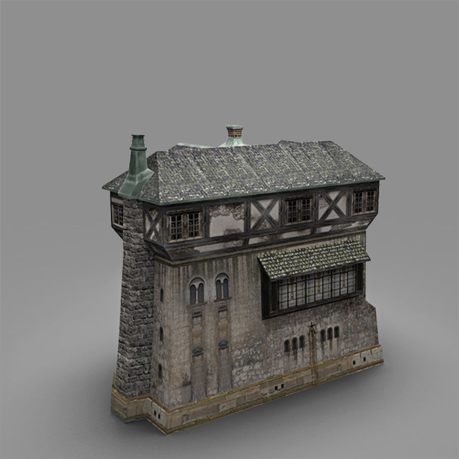 old Medieval House royalty-free 3d model - Preview no. 3