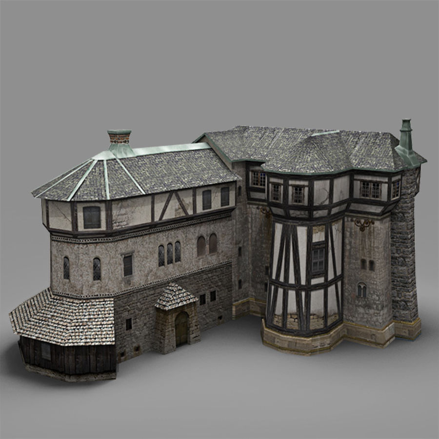 old Medieval House royalty-free 3d model - Preview no. 5
