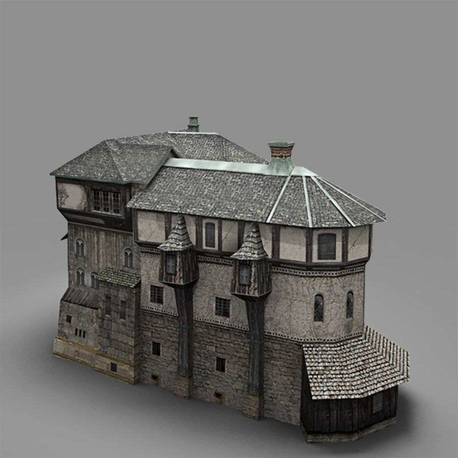 old Medieval House royalty-free 3d model - Preview no. 6