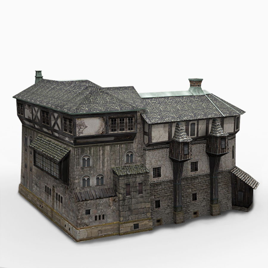 old Medieval House royalty-free 3d model - Preview no. 1