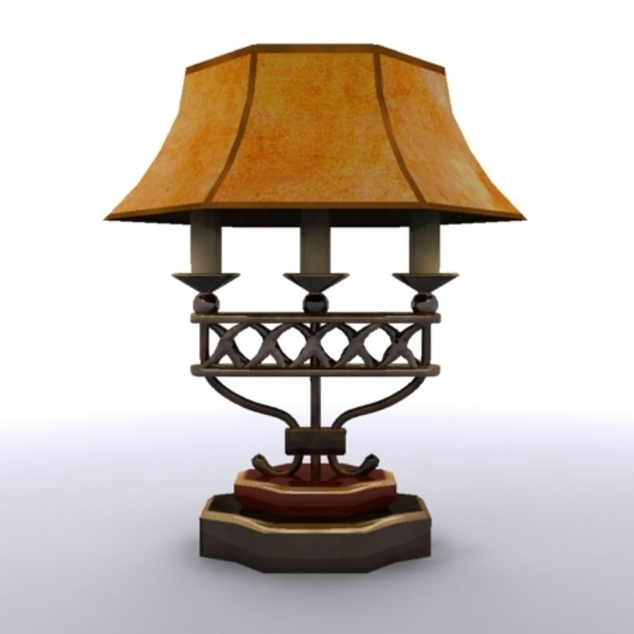 Antique Lamp royalty-free 3d model - Preview no. 1