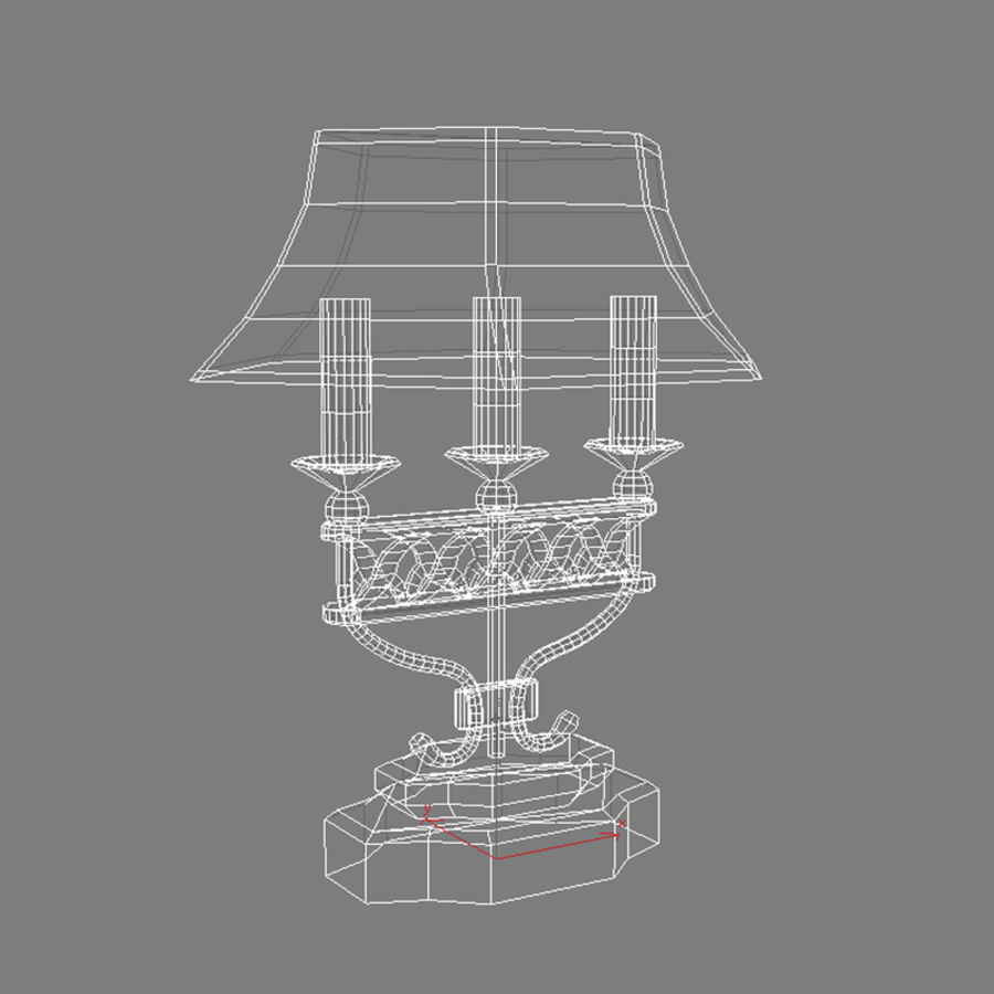 Antique Lamp royalty-free 3d model - Preview no. 3