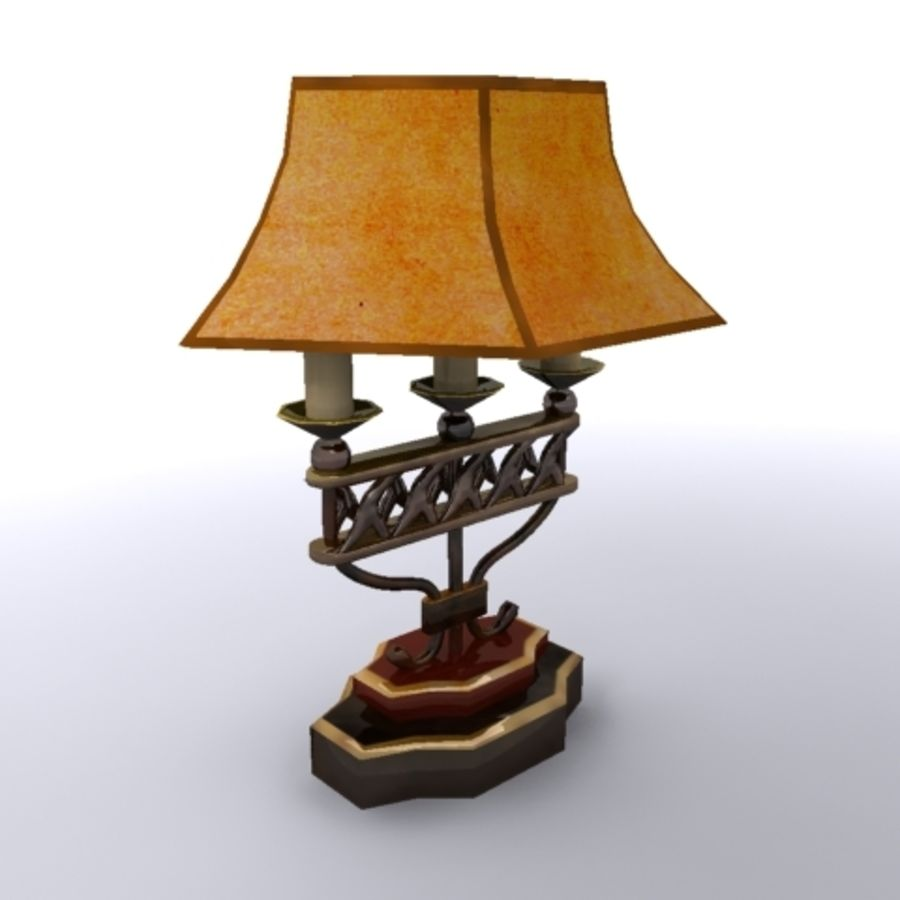 Antique Lamp royalty-free 3d model - Preview no. 2