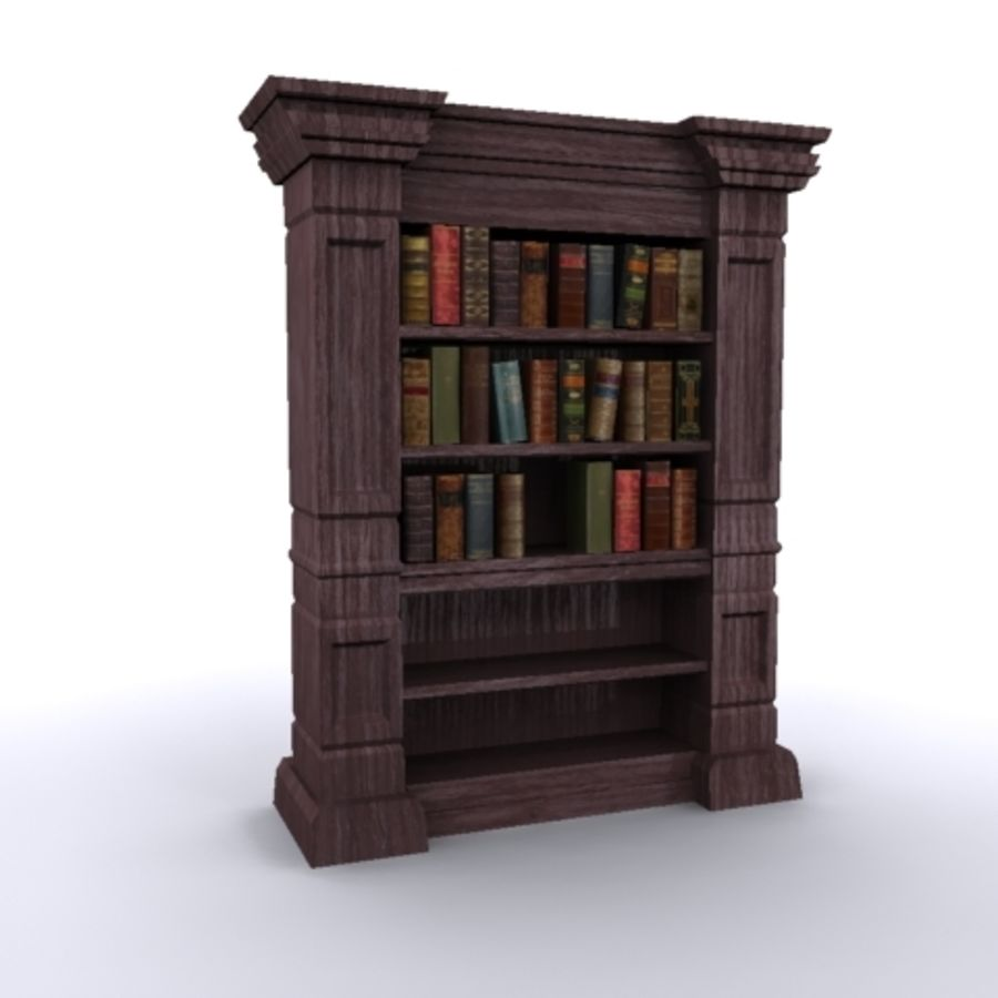 Antique Bookshelf royalty-free 3d model - Preview no. 1
