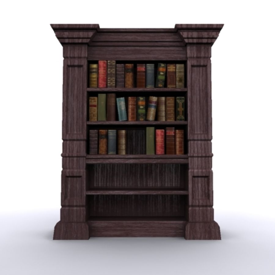 Antique Bookshelf royalty-free 3d model - Preview no. 2