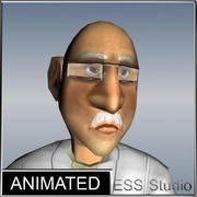 科学者アニメーション 3d model