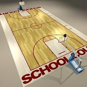 Basketball Court High School 3d model