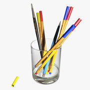Glass with Pencils 3d model