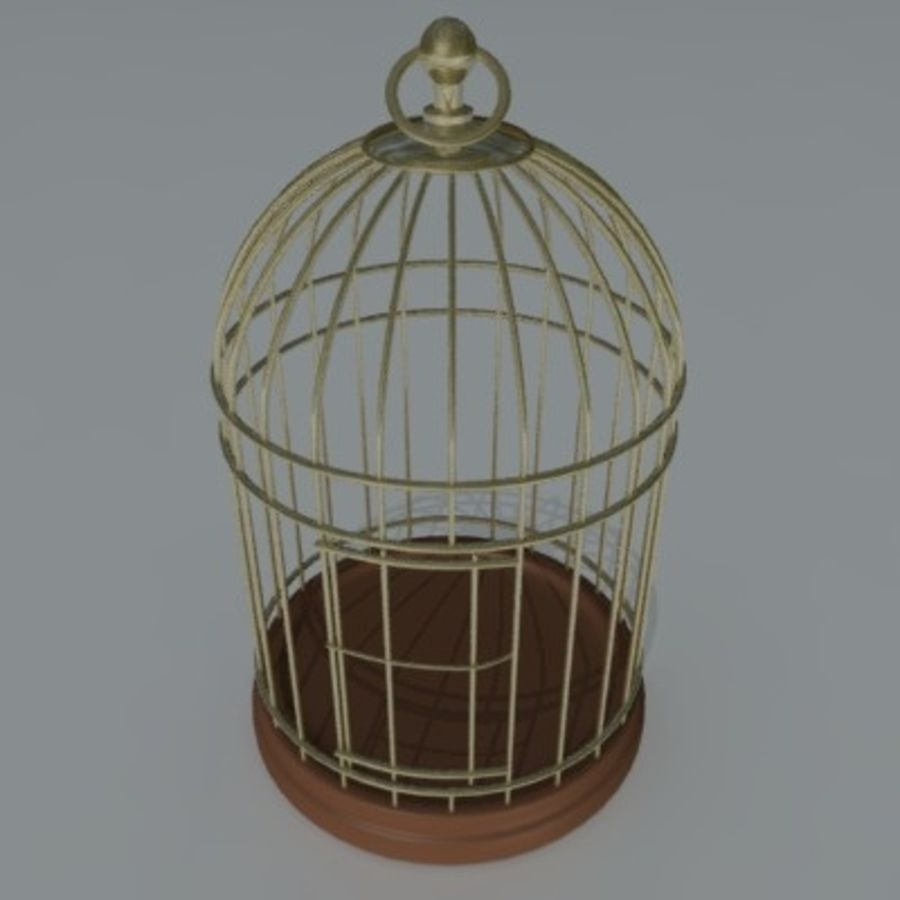 bird cage royalty-free 3d model - Preview no. 4