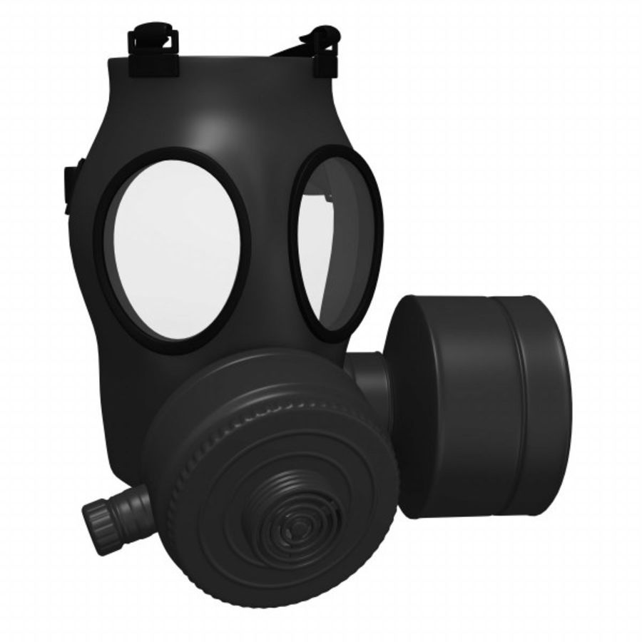 gas mask royalty-free 3d model - Preview no. 2