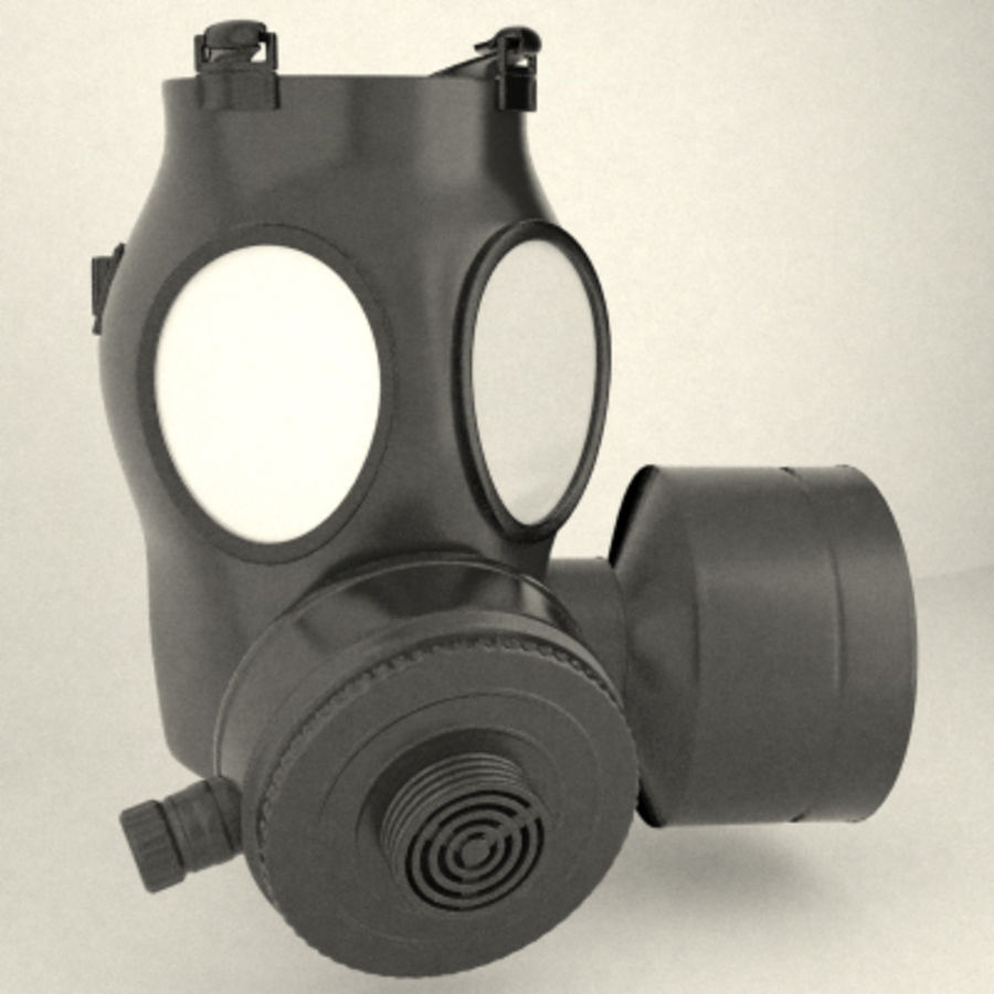 gas mask royalty-free 3d model - Preview no. 1