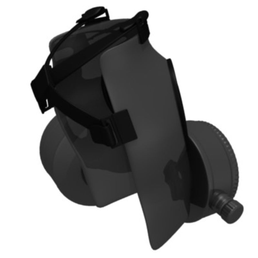 gas mask royalty-free 3d model - Preview no. 4