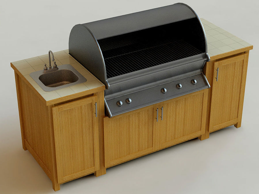 Grill royalty-free 3d model - Preview no. 4
