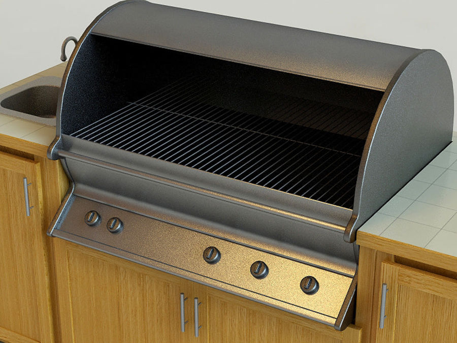 Grill royalty-free 3d model - Preview no. 7