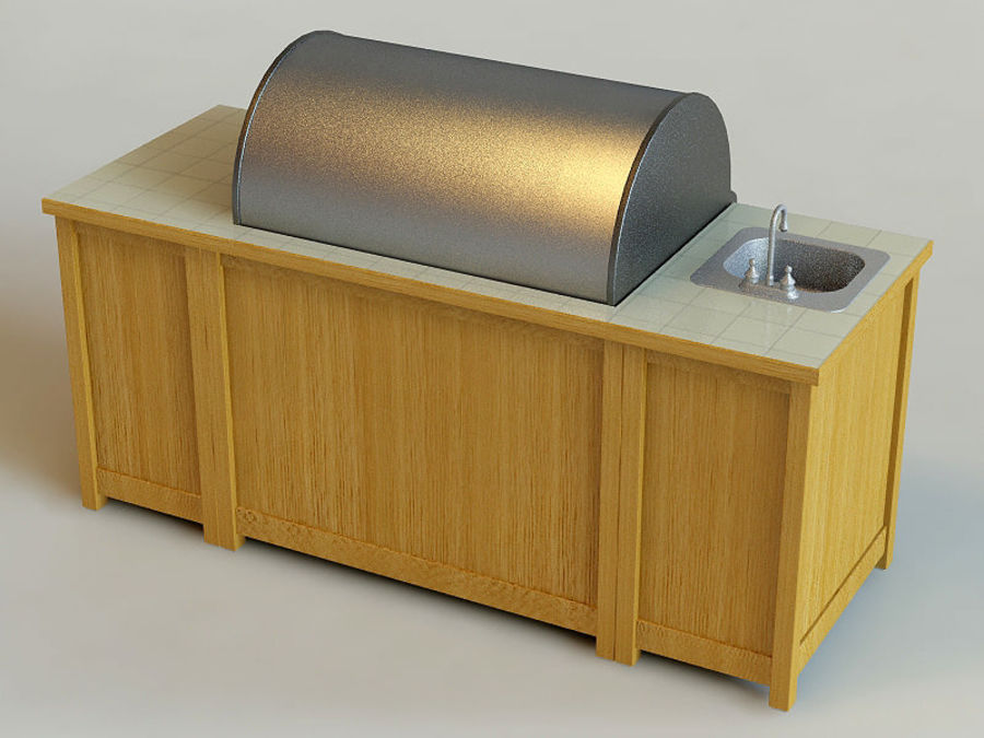 Grill royalty-free 3d model - Preview no. 3