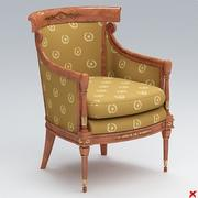 Armchair old fashioned021.ZIP 3d model
