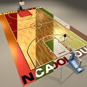 Basketball Courts Collection 3d model