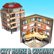 City House & Cutaway 3d model