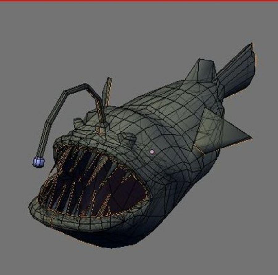 Angler Fish.rar royalty-free 3d model - Preview no. 2