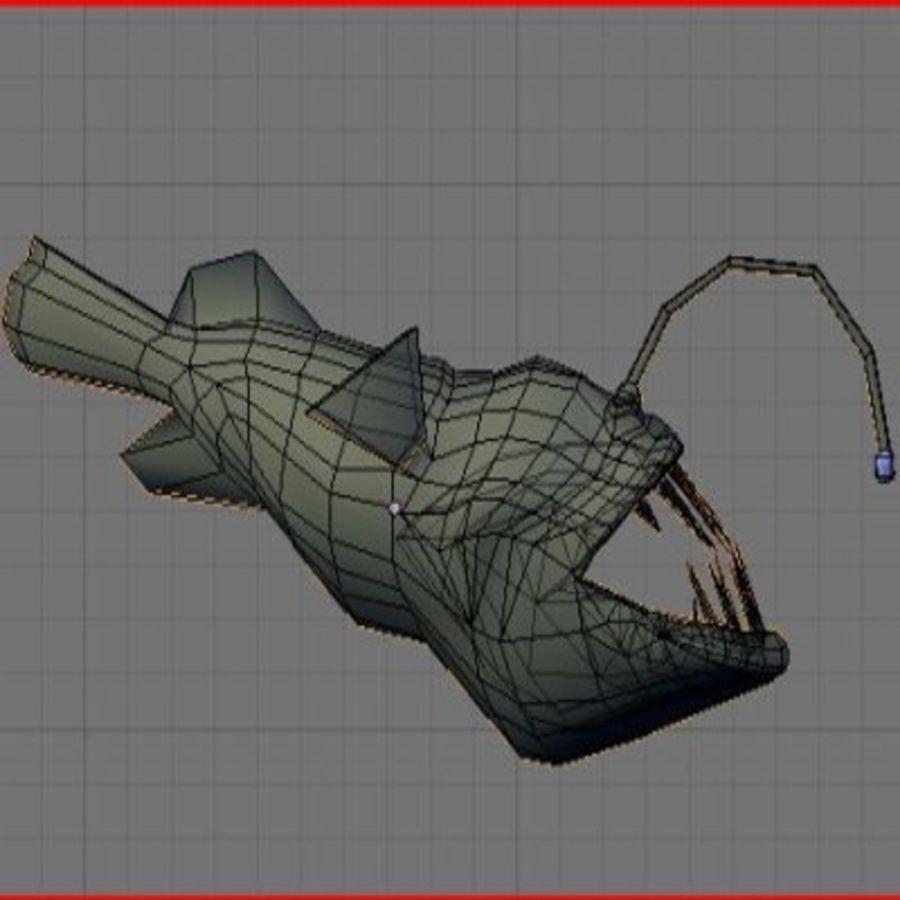 Angler Fish.rar royalty-free 3d model - Preview no. 12