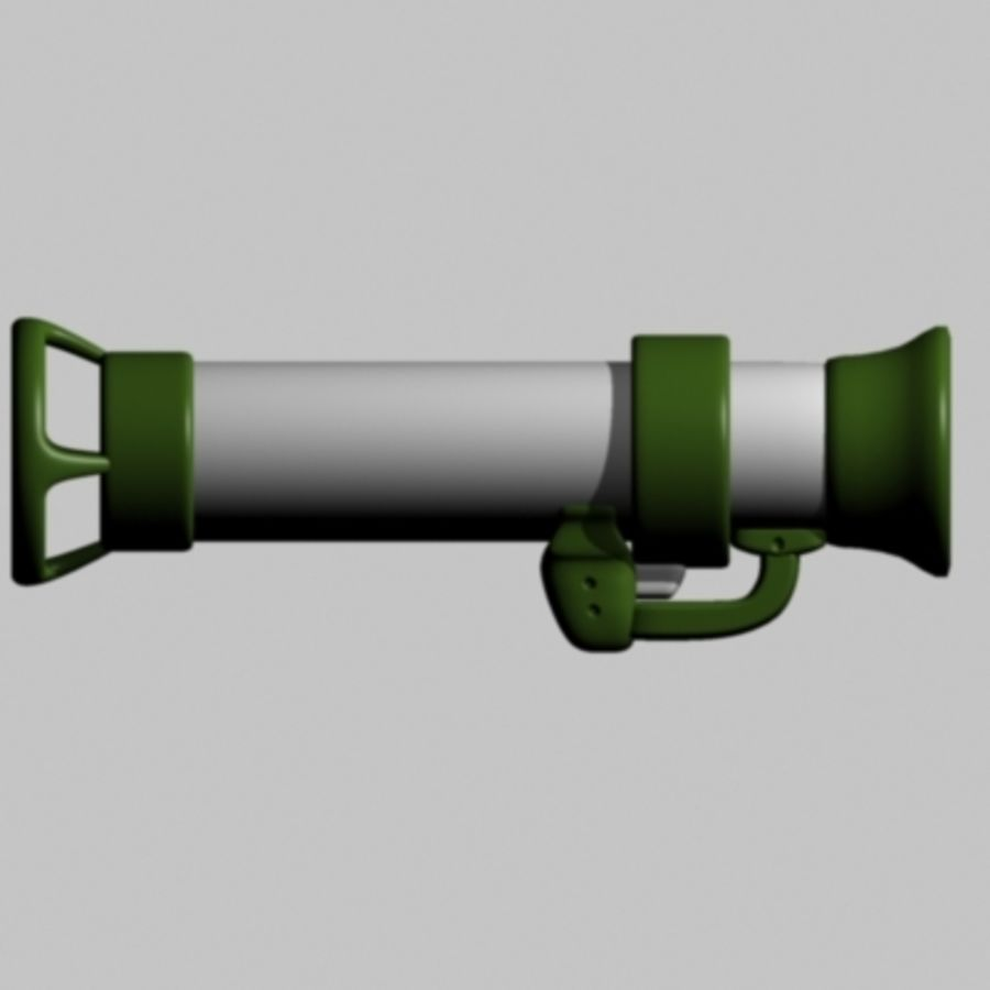 Worms bazooka royalty-free 3d model - Preview no. 2