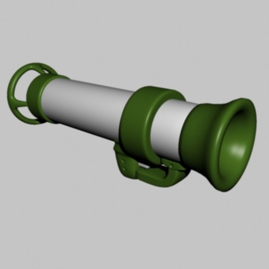 Worms bazooka royalty-free 3d model - Preview no. 1