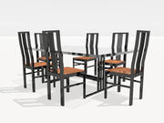 Modern Table and Chairs 3d model