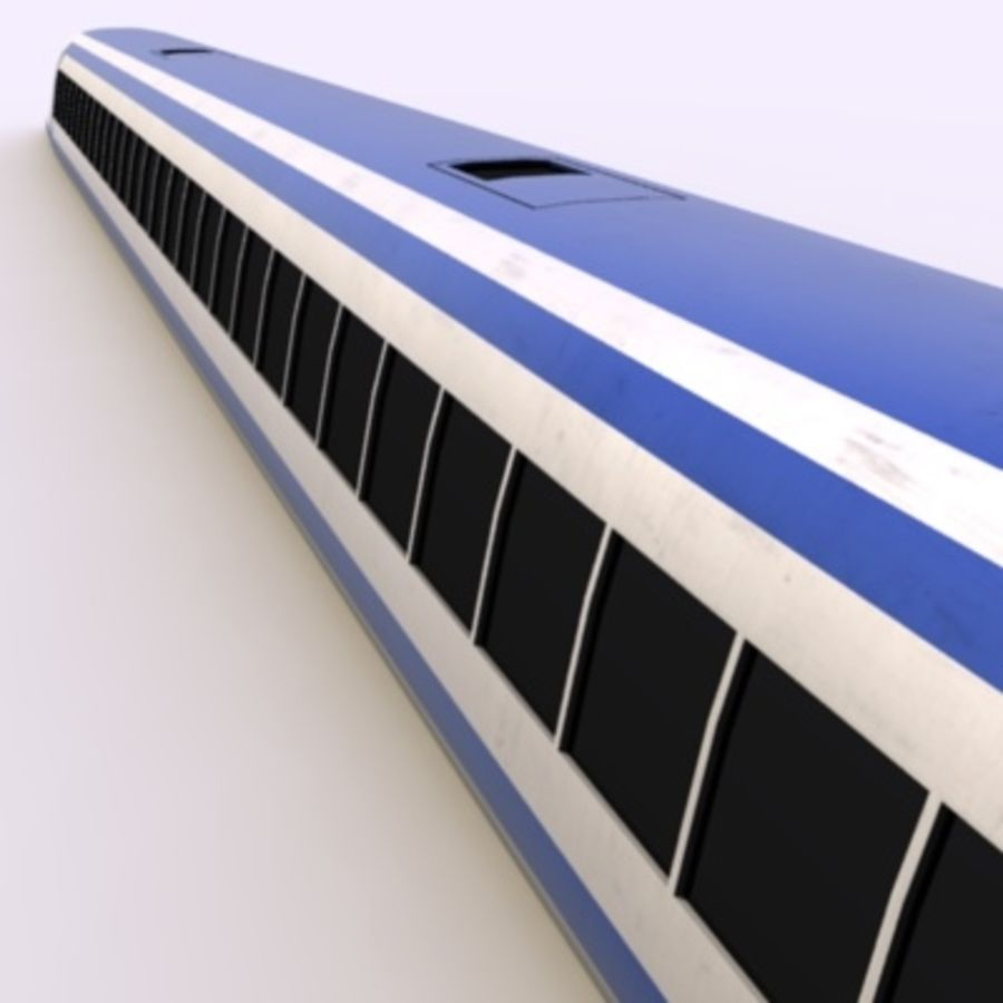 Futuristic Train royalty-free 3d model - Preview no. 2