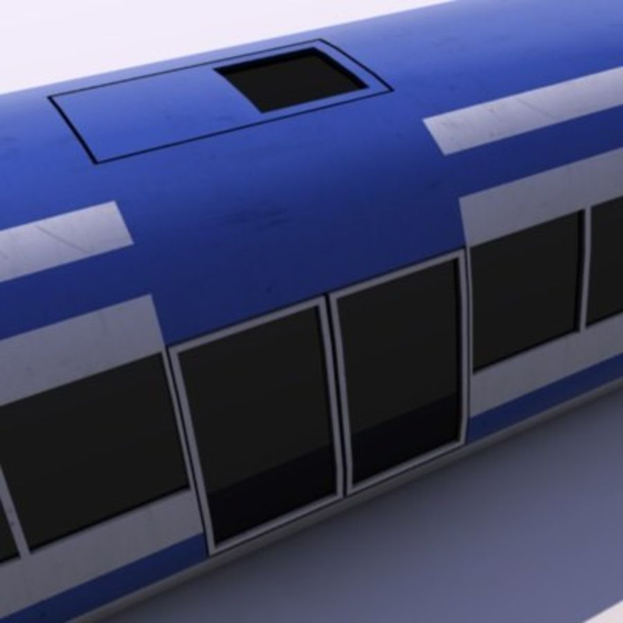 Futuristic Train royalty-free 3d model - Preview no. 7