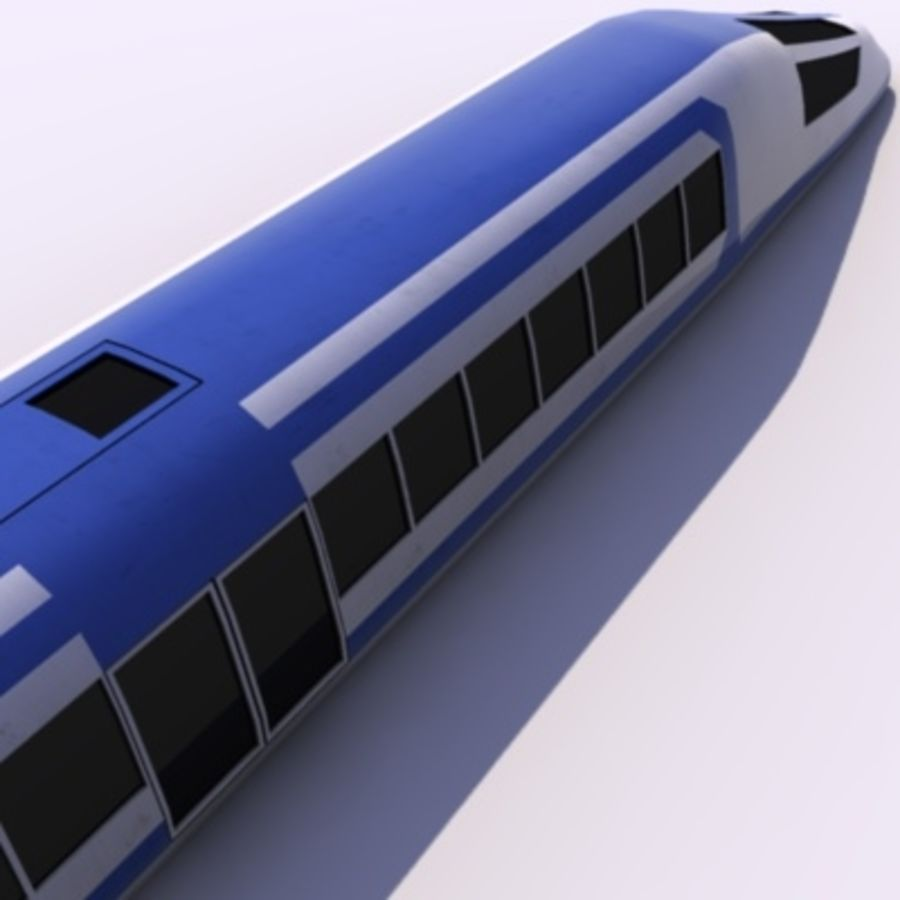 Futuristic Train royalty-free 3d model - Preview no. 4