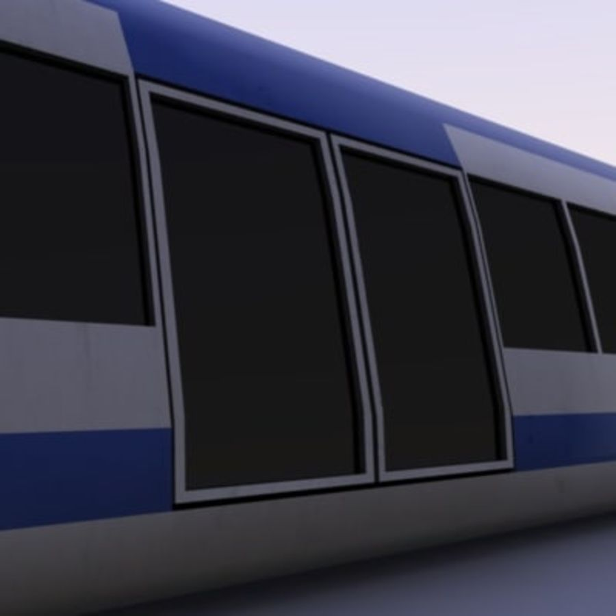 Futuristic Train royalty-free 3d model - Preview no. 6
