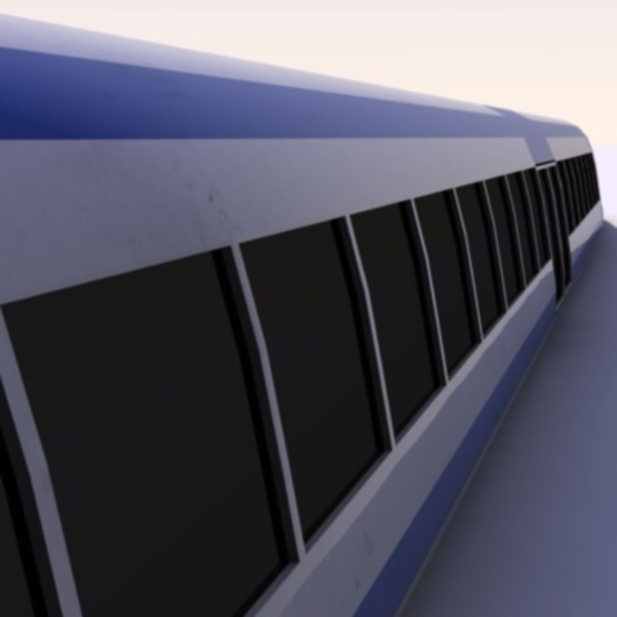Futuristic Train royalty-free 3d model - Preview no. 3