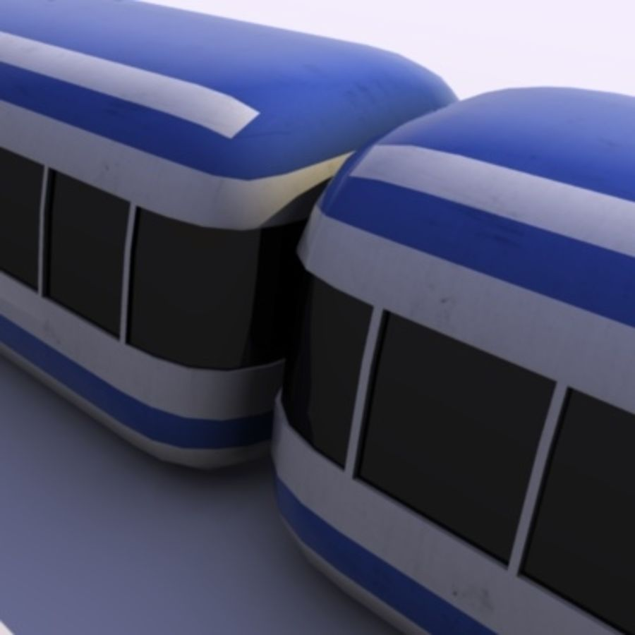 Futuristic Train royalty-free 3d model - Preview no. 8