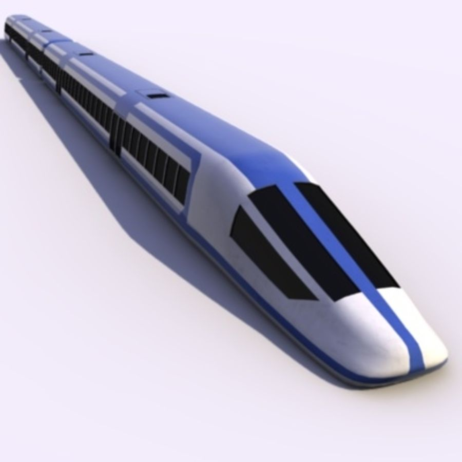 Futuristic Train royalty-free 3d model - Preview no. 1