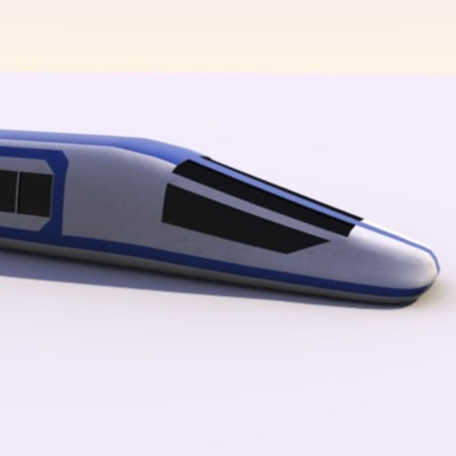 Futuristic Train royalty-free 3d model - Preview no. 9
