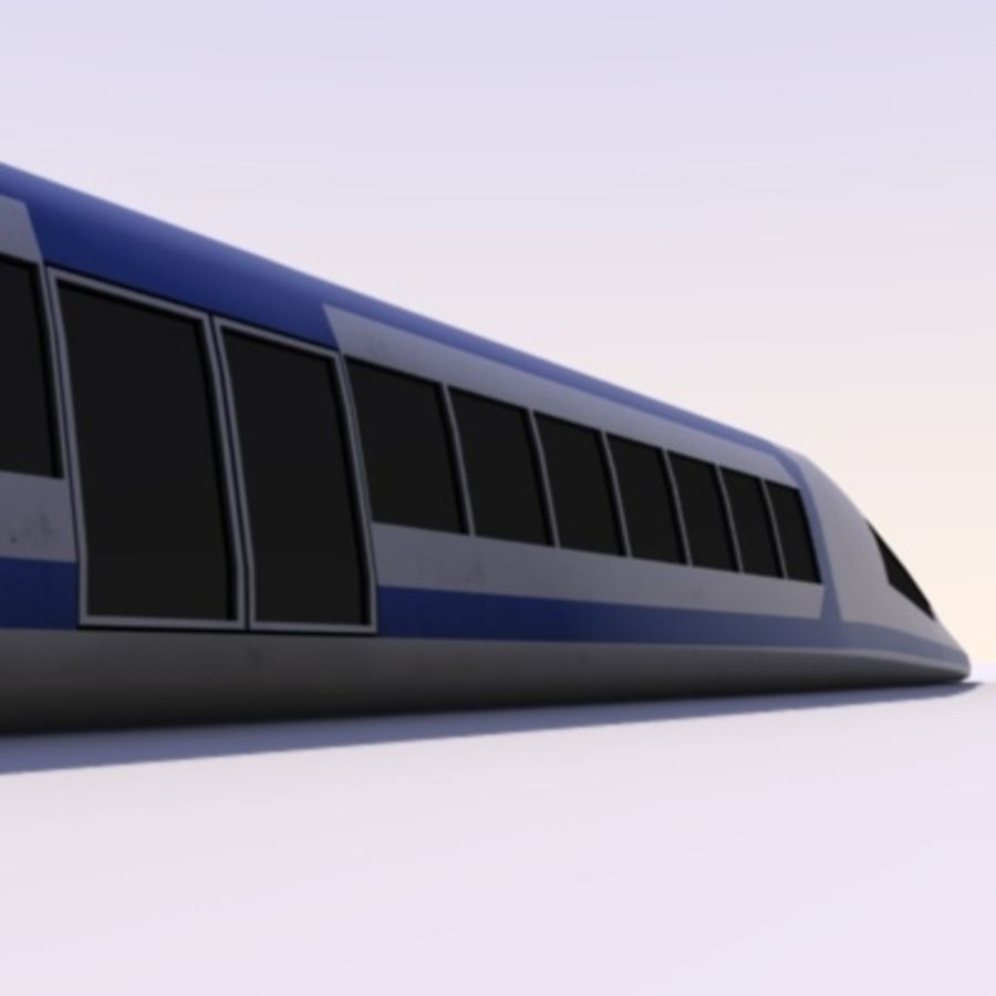 Futuristic Train royalty-free 3d model - Preview no. 5
