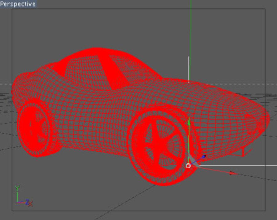 Auto dei cartoni animati royalty-free 3d model - Preview no. 3