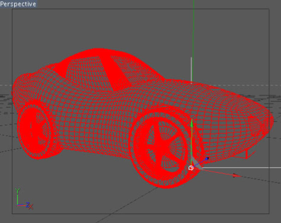 Samochód Cartoon royalty-free 3d model - Preview no. 3