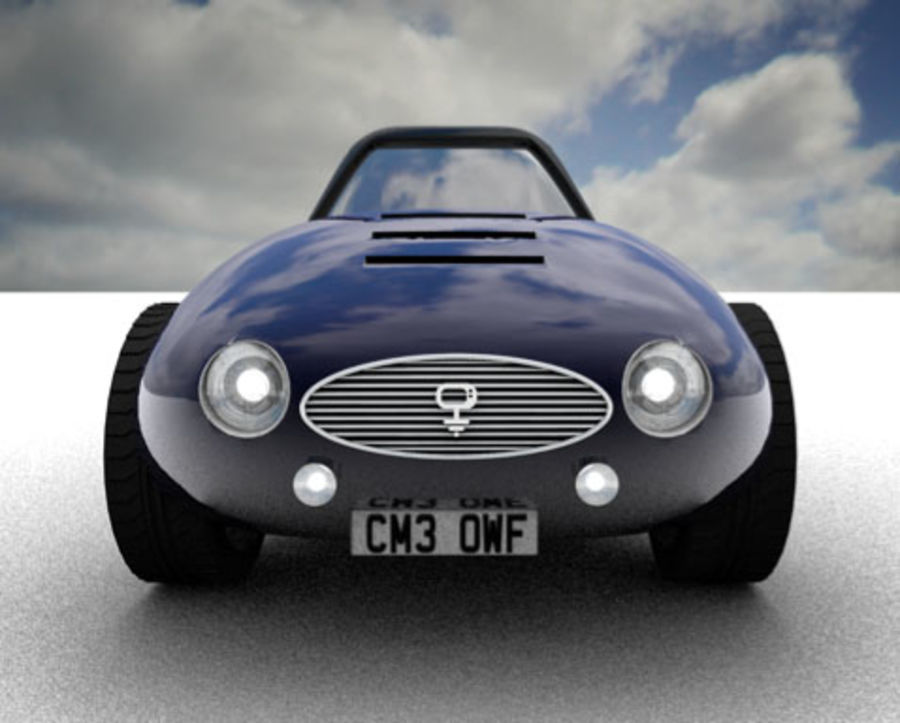 Samochód Cartoon royalty-free 3d model - Preview no. 2