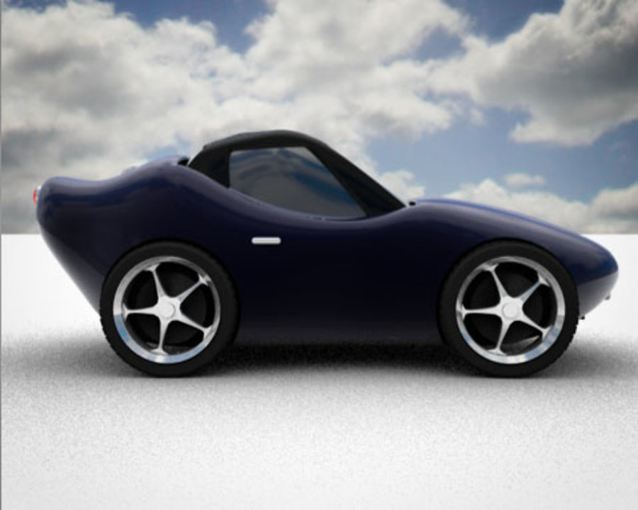 Samochód Cartoon royalty-free 3d model - Preview no. 1