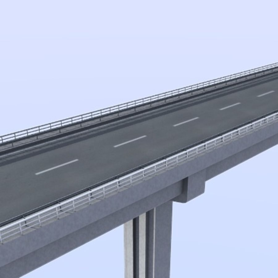 Overpass royalty-free 3d model - Preview no. 2