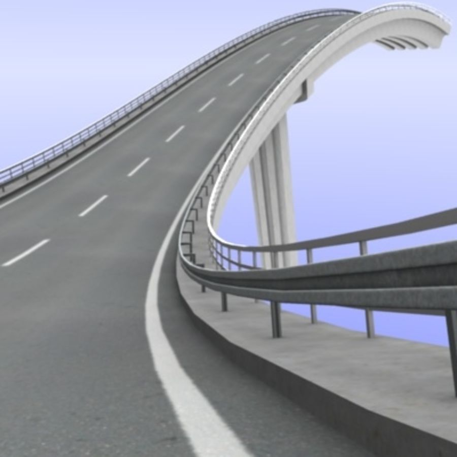 Overpass royalty-free 3d model - Preview no. 5
