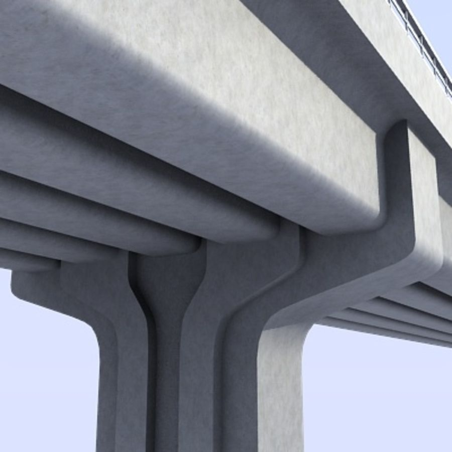 Overpass royalty-free 3d model - Preview no. 4