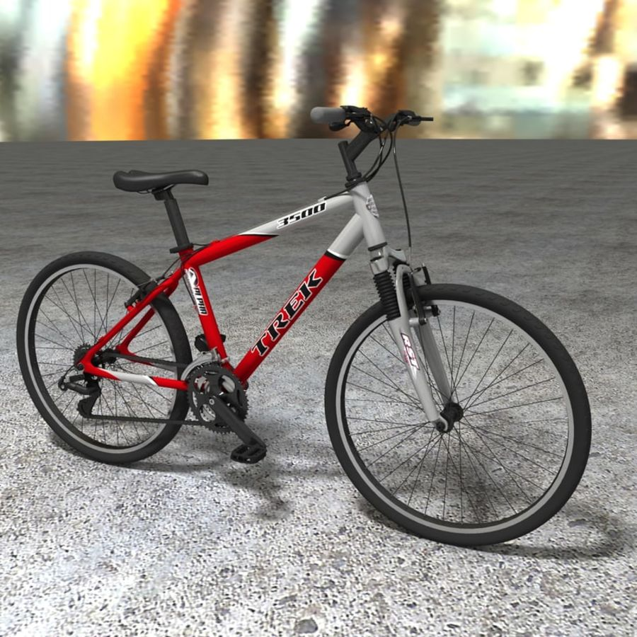 TREK 3500 Bike royalty-free 3d model - Preview no. 1
